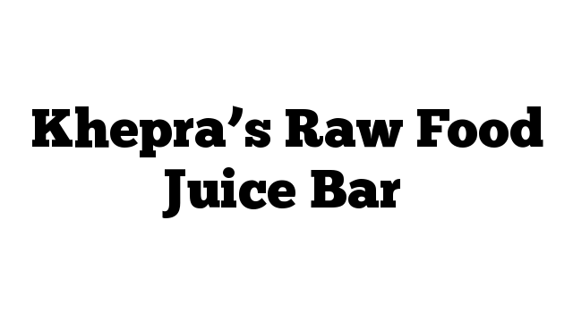 Khepra's Raw Food Juice Bar